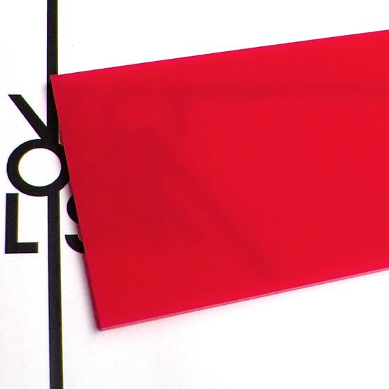 Superficie - plexiglass rosso fragola per il taglio laser