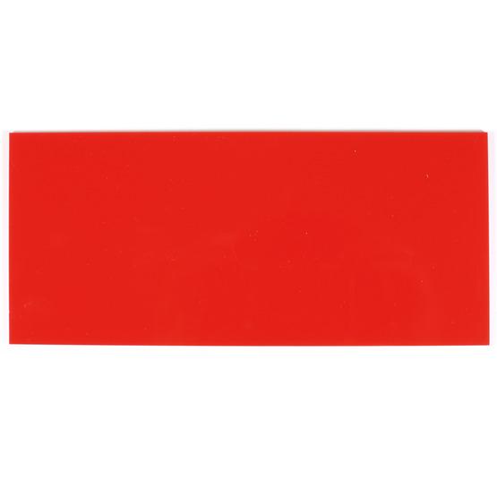 Échantillon - plexiglas de fraise rouge pour découpe au laser