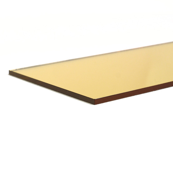 Cut edges - Gold mirror Plexiglass for laser cutting