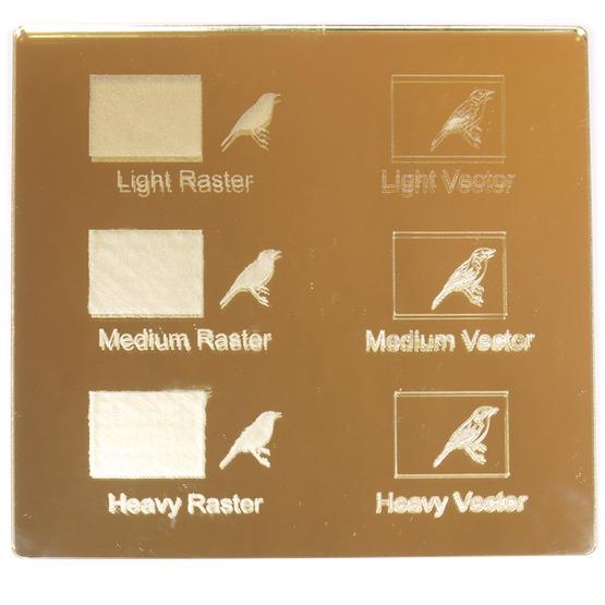 Exemple de gravure - Plexiglass miroir doré pour découpe au laser