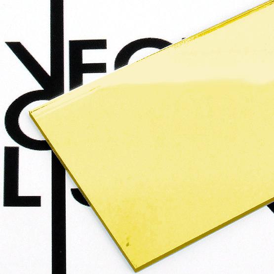 Surface - gold mirror plexiglass for laser cutting