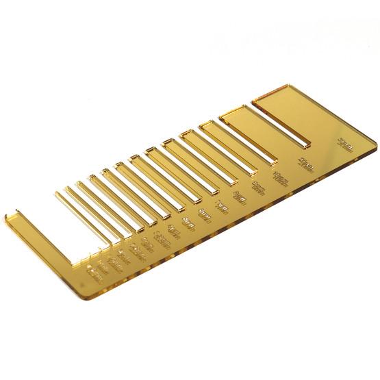 Test precisione- plexiglass specchio oro per il taglio laser