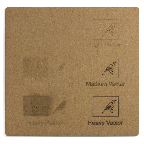 Engraving example - havana microwave cardboard for laser cutting