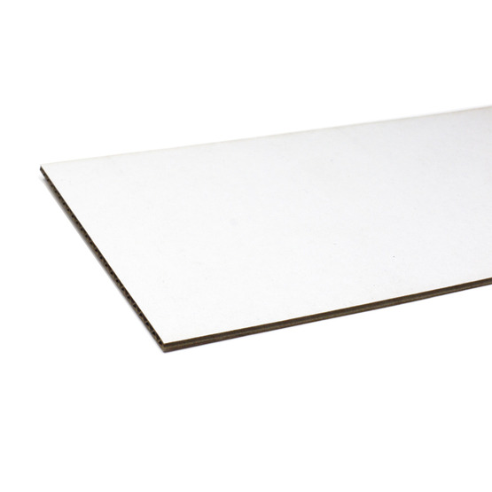 Cut edges - white and havana microwave cardboard for laser cutting