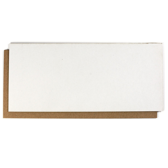 Sample - white and brown microwave cardboard and laser cutting