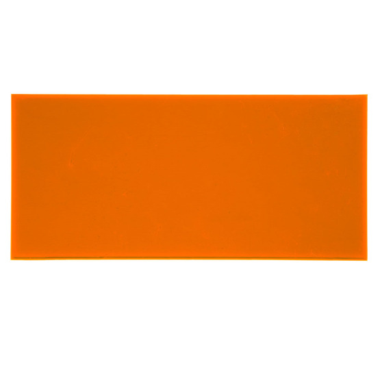 Sample - fluorescent orange plexiglass for laser cutting