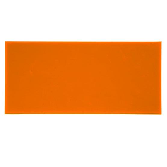 Échantillon - plexiglas orange fluorescent pour découpe au laser