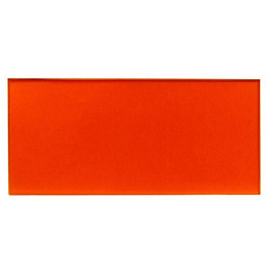 Campione - plexiglass arancione trasparente per il taglio laser