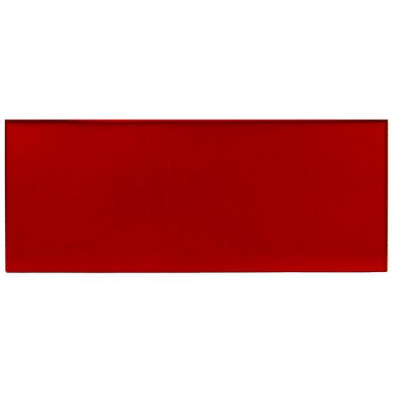 Échantillon - plexiglas rouge transparent pour découpe au laser