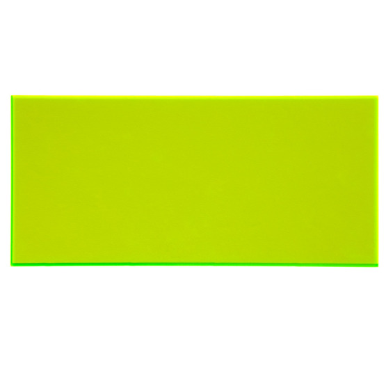 Sample - yellow plexiglass fluorescent highlight for laser cutting
