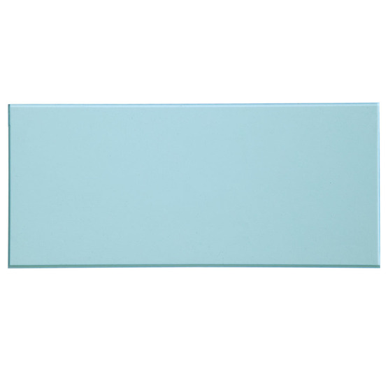 Sample - transparent light blue plexiglass for laser cutting