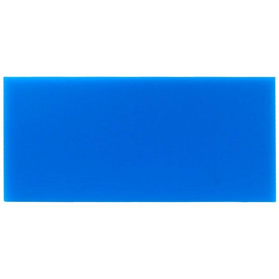 Échantillon - plexiglas bleu clair pour découpe au laser