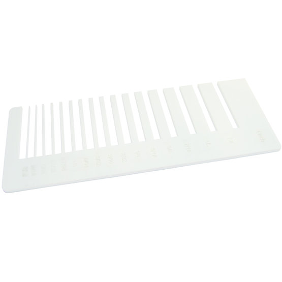 Test de précision - Plexiglass blanc pour découpe au laser