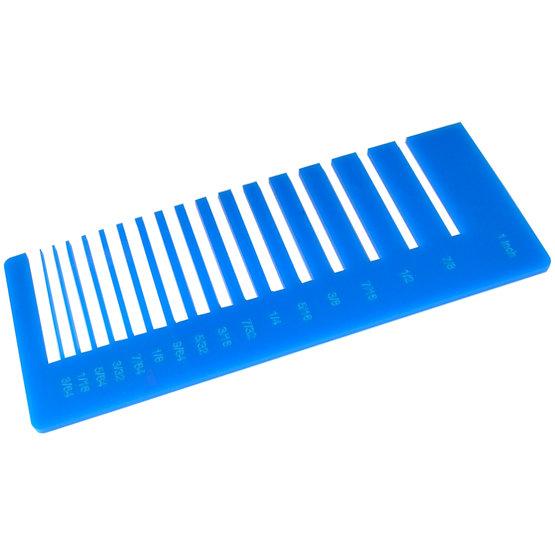Test de précision - plexiglas bleu clair pour découpe au laser