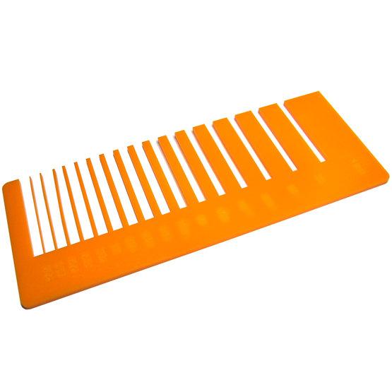 Test de précision - plexiglas mandarine pour découpe au laser