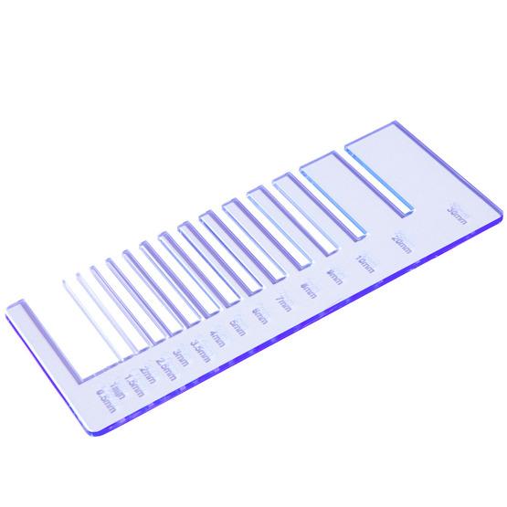 Precision test - fluorescent blue plexiglass for laser cutting