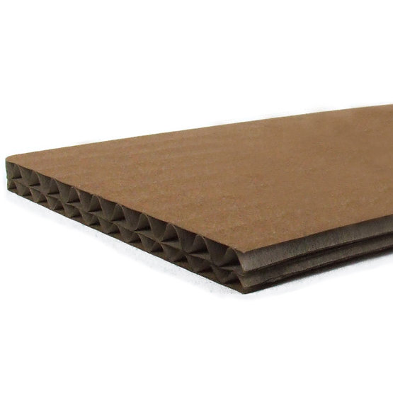 Double corrugated cardboard for laser cutting