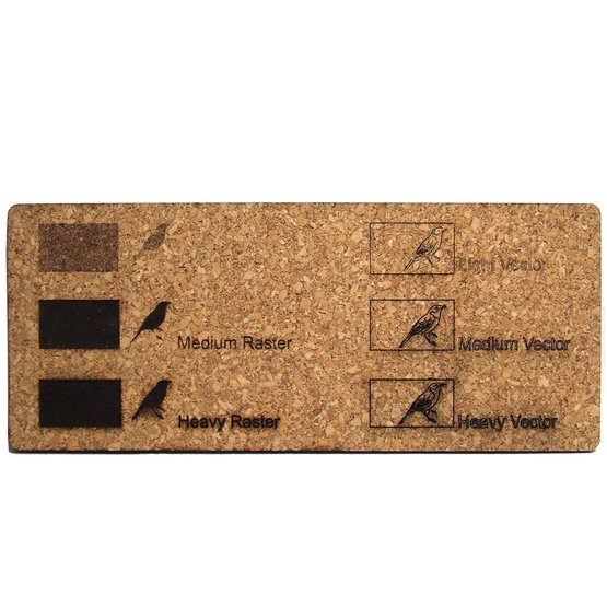 Esempio incisione - sughero per il taglio laser