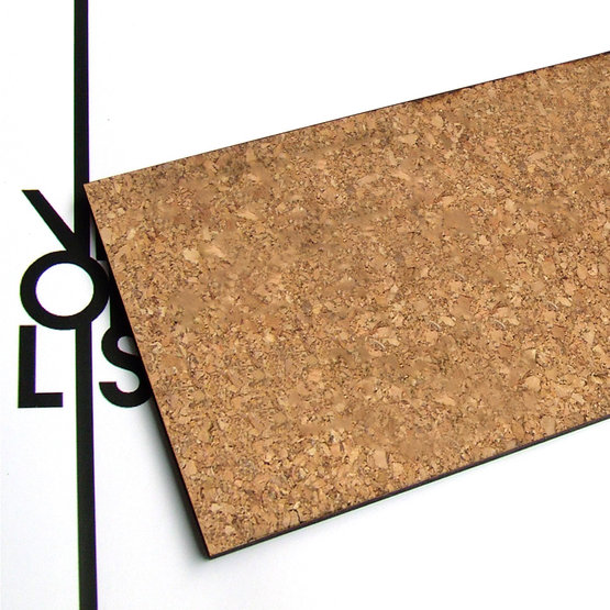 Surface - cork for laser cutting