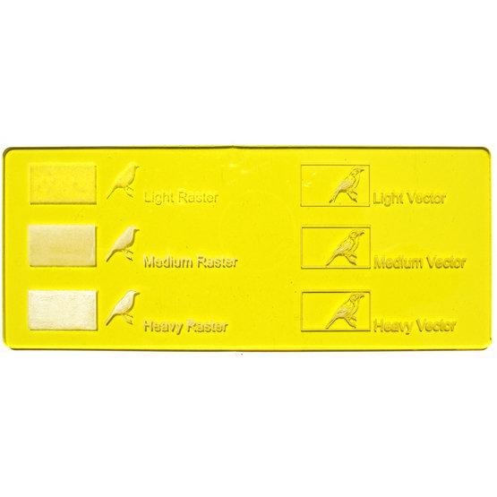 Transparent yellow plexiglass - laser engraving