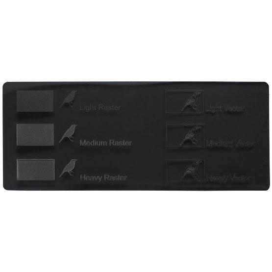 Smoked black plexiglass - laser engraving