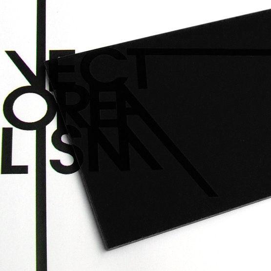 Plexiglass noir fumé