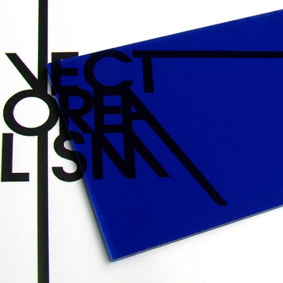 Plexiglass blu trasparente