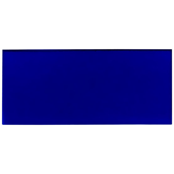 Transparent blue plexiglass - sample