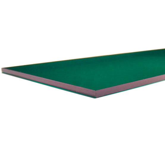 Plexiglass vert forêt transparent - bord coupé au laser