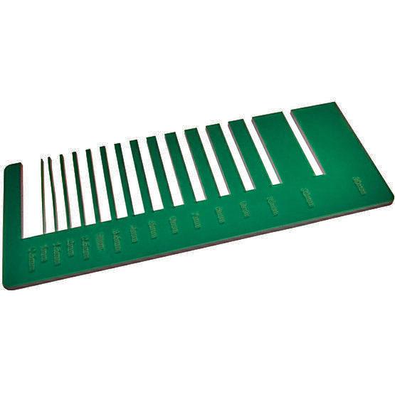 Plexiglass vert forêt transparent - test de précision de découpe laser