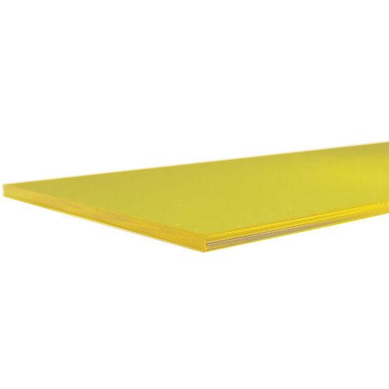 Plexiglass jaune transparent - bord coupé au laser