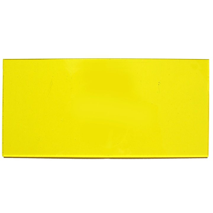Transparent yellow plexiglass