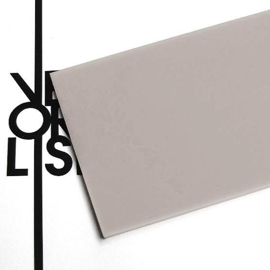 Dove gray plexiglas