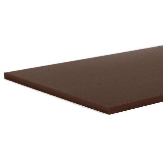 Brown Plexiglas - laser cut edges