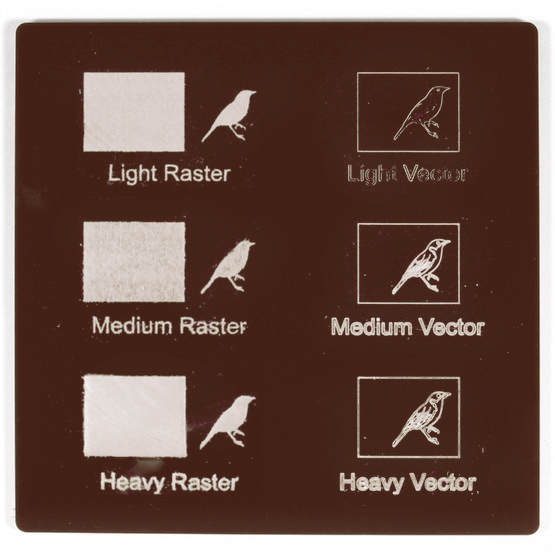 Plexiglas marrone - test incisioni laser