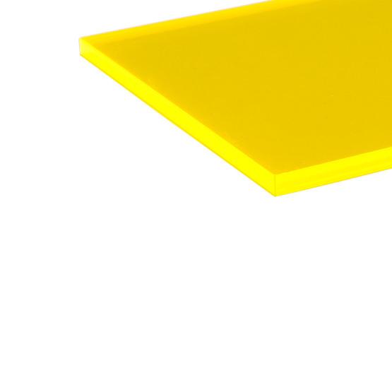 Fluorescent Plexiglas - edge in laser cut