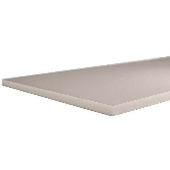 Dove gray plexiglas - laser cut edges