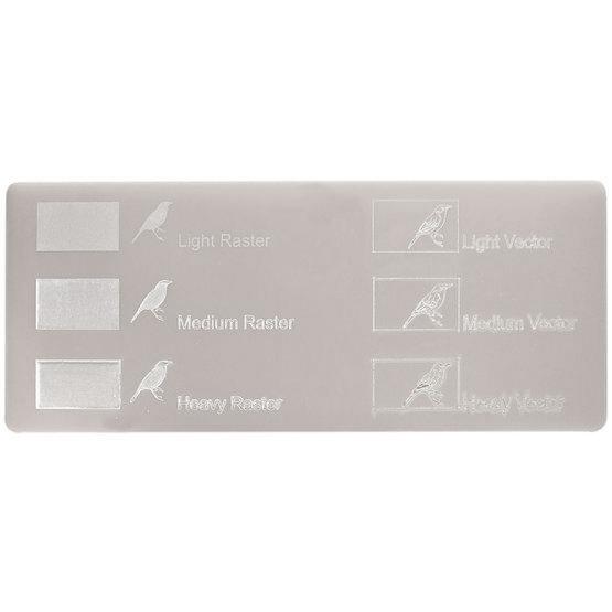 Plexiglas gris tourterelle - gravures au laser