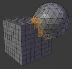 Intersections des géométries de Blender