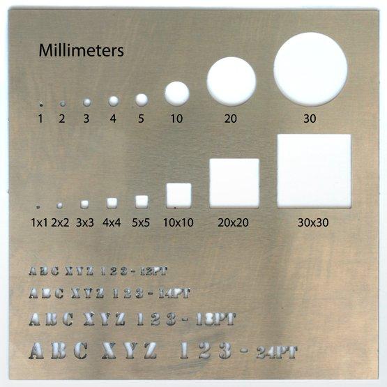 Aluminium pour découpe laser - détail de précision