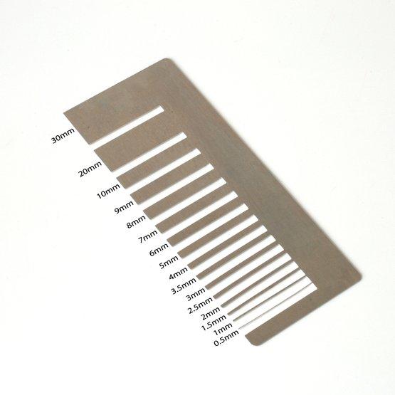 Découpe laser aluminium - test de précision