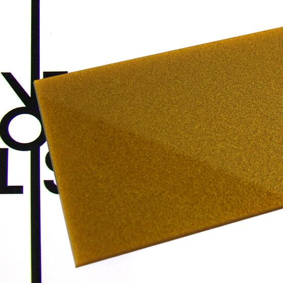 Metalized gold Plexiglass - surface