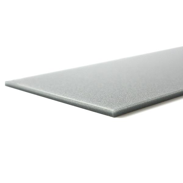 Metallic gray plexiglass - laser cutting test