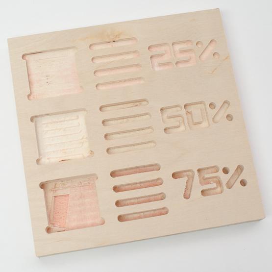 Poplar plywood - engraving