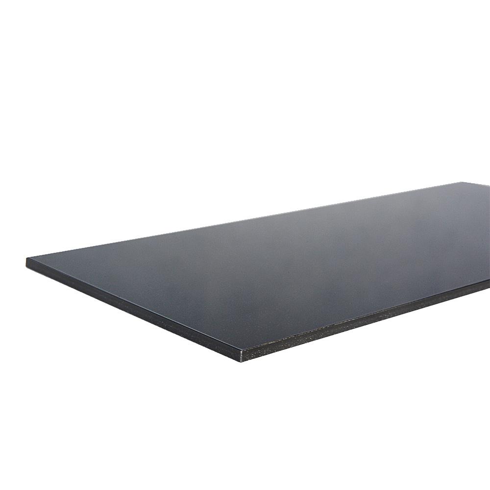 Metalized black plexiglass - cut edge