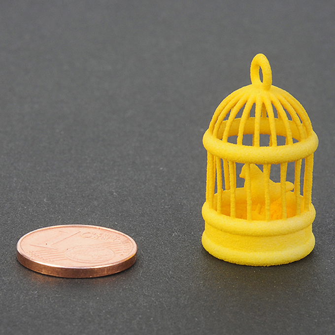 Yellow plastic for 3D printing - sample