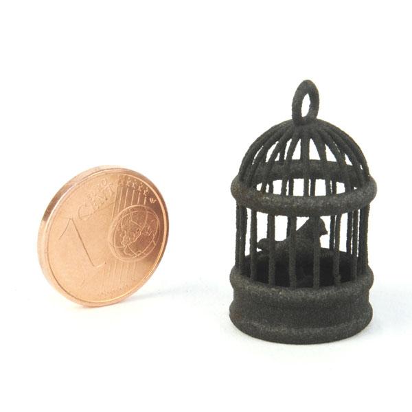 Échantillon de plastique noir imprimé en 3D - Nylon SLS