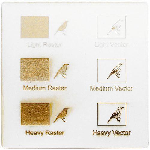 Exemple de gravure au laser - carton blanc