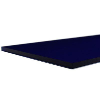 Transparent night blue plexiglass - laser cut edge