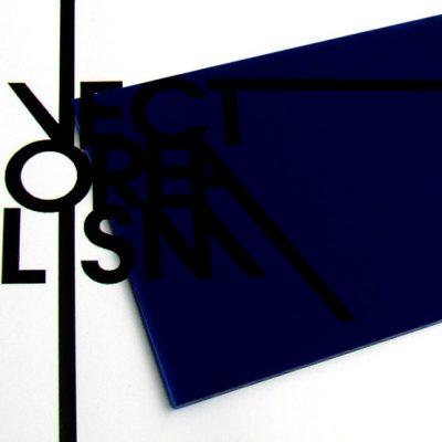 Transparent night blue plexiglass